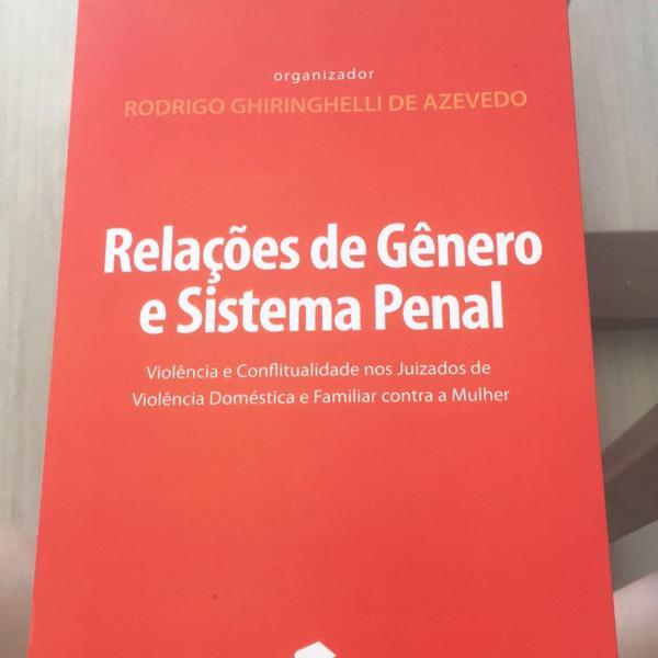 Livro relações de gênero e sistema penal