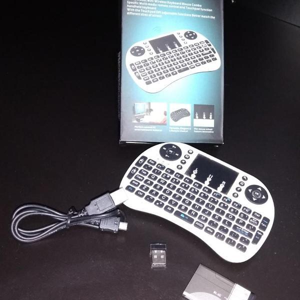 Mini teclado mouse touchpad wireless wifi i8 tv box usb pc