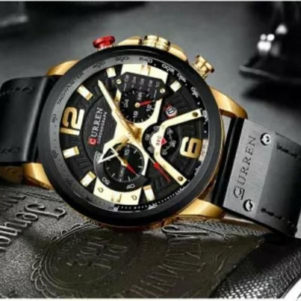 Relógio curren masculino 8329 original cronógrafo
