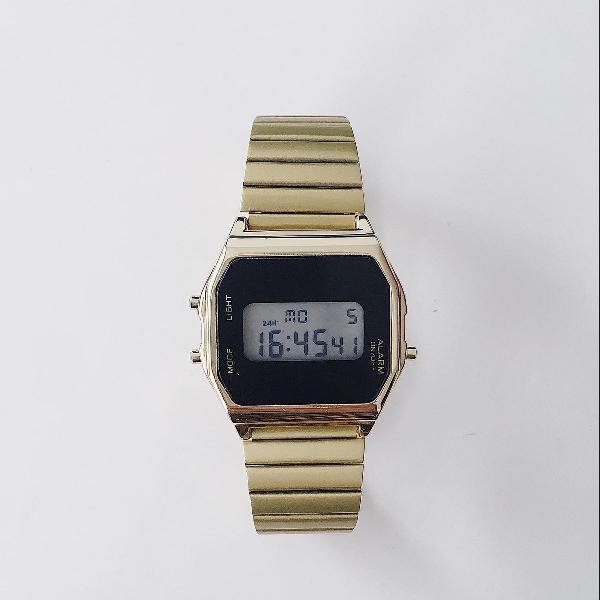 Relógio unissex casio vintage corta vento michael kors