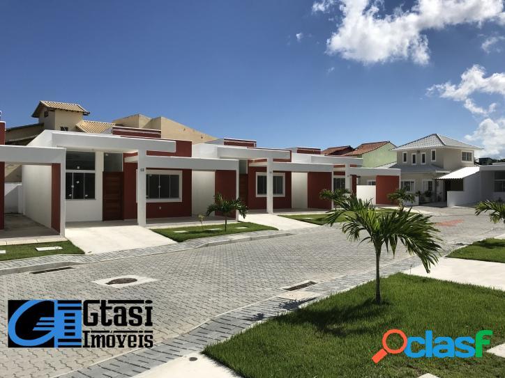 Casa nova c/ 2 quartos 1 suíte condomínio de frente p/ praia