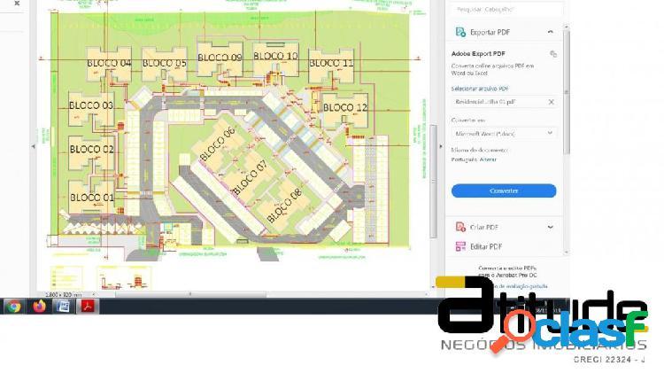 Área 15321 m2 com projeto aprovado para 192 apartamentos