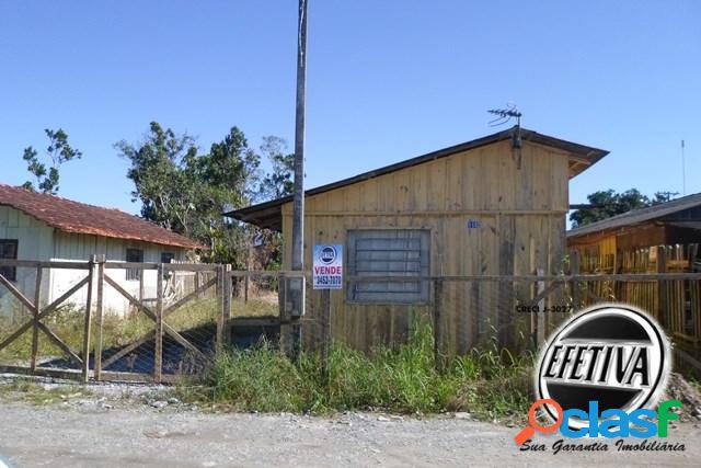 Terreno com casa de madeira - inajá - matinhos