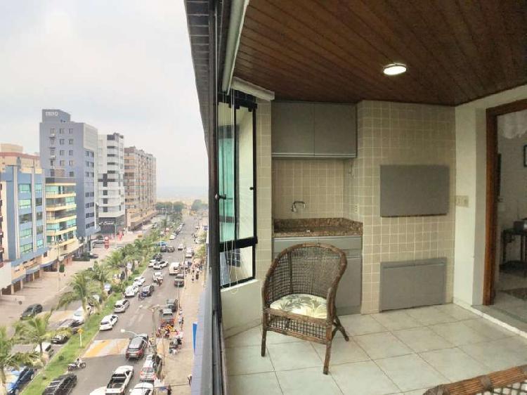 Apartamento mobiliado de frente com Vista Mar e Lagoa, no