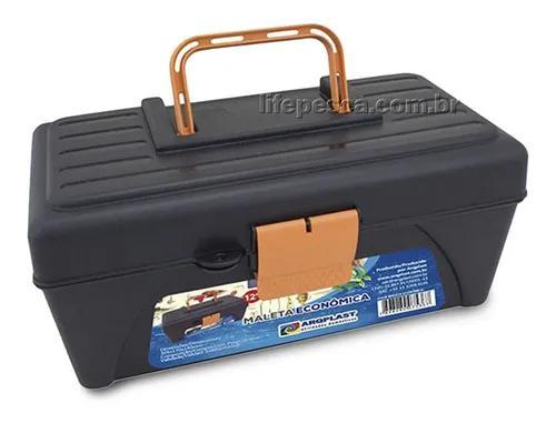 Caixa de pesca econômica 25478 com bandeja - arqplast