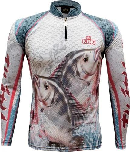 Camisa camiseta pesca king prot. uv cod.625