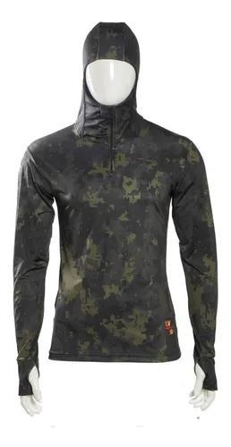 Camisa de pesca com capuz proteção uv 50+ - frete grátis