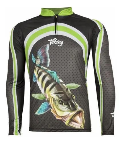 Camiseta de pesca proteção solar uv 50+ king varios