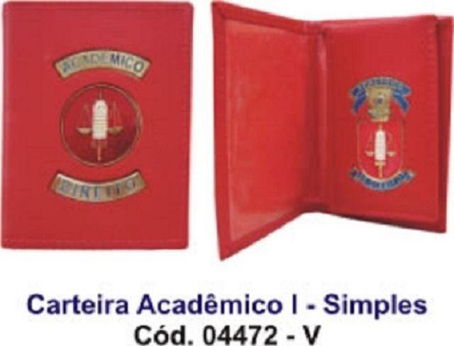 Carteira de couro para acadêmico de direito - simples