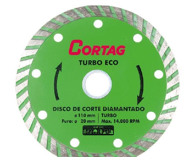 Disco turbo cortag diamantado 110x10x20mm