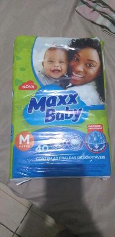 Fraldas maxx baby tam m e g