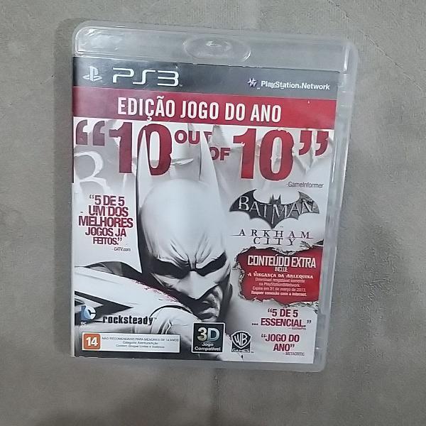Jogo batman arkam city - ps3, um dos melhores jogos do game.