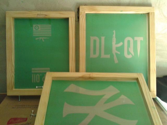 Kit serigrafia completo com:berço de camisetas+tela+ tinta