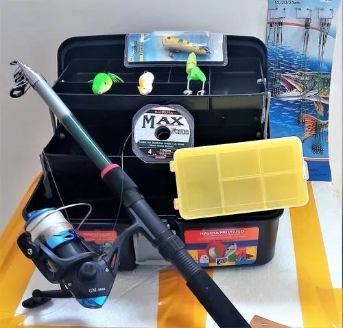 Pesca pesca traíra vara+molinete+linha+maleta+3