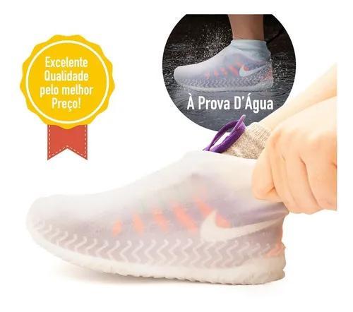Protetor p/ sapato silicone impermeável p/ chuva motoqueiro
