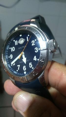 Relógio nautica 200 metros rosqueado ideal para mergulho