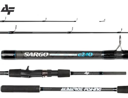 Vara para carretilha albatroz sargo carbon 8'0 2,40m - 3 p