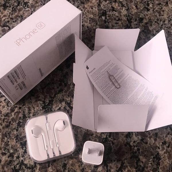 Acessórios originais do iphone se 32gb