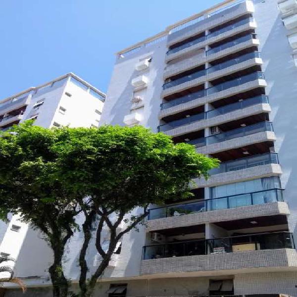 apartamento frente com varanda próximo a praia santos sp