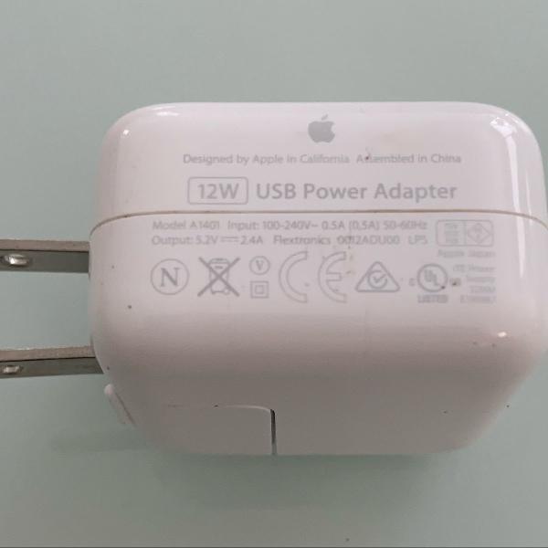 Base carregador usb 12w original apple