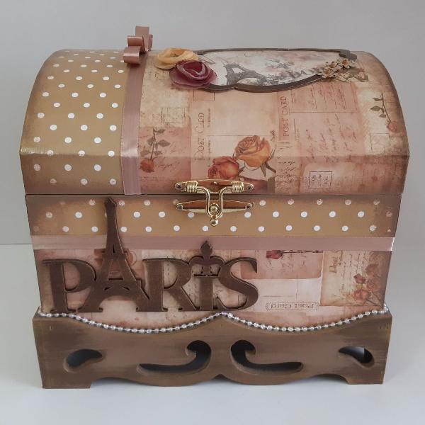 Caixa organizadora tipo báu vintage