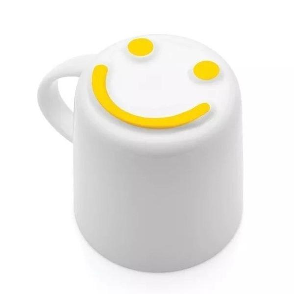 Caneca cêramica carimbo feliz smile