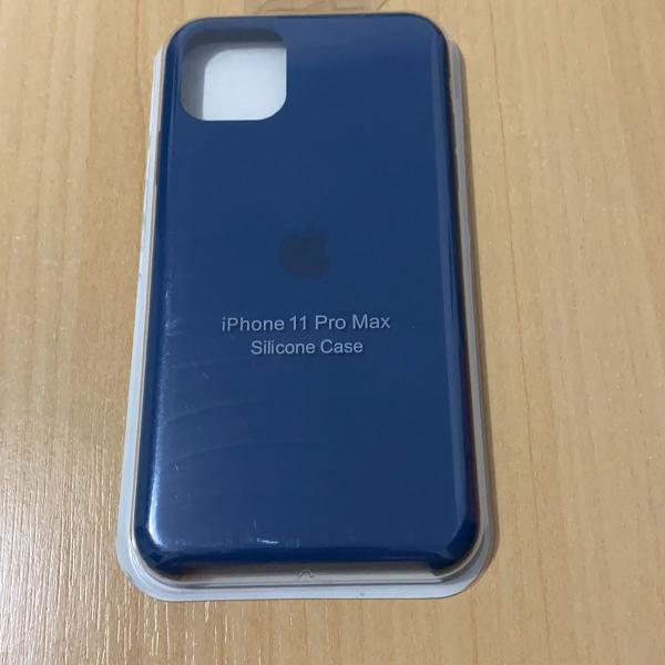 Case silicone iphone 11 pro max azul escuro