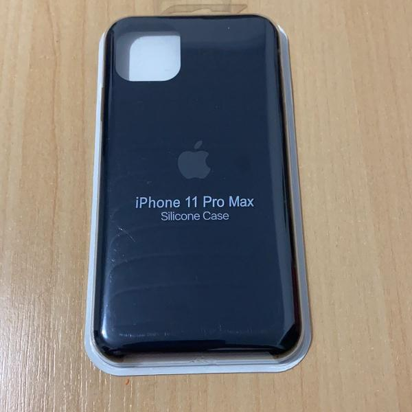 Case silicone iphone 11 pro max preta