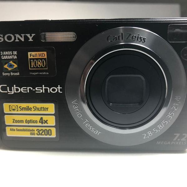 Câmera digital sony cyber shot dsc-w110 preta 7.2mp