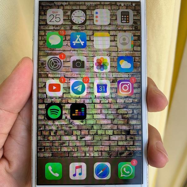 Iphone 6s - branco 128 gb   diferenciado e completo para
