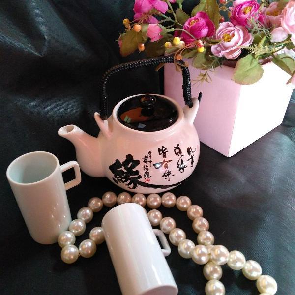 Jogo chá japonês original com xícara luxo!