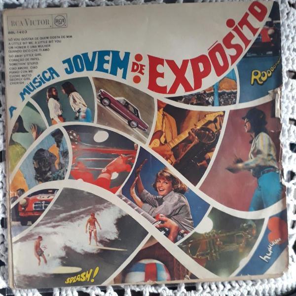 Lp disco vinil a música jovem de exposito 1967