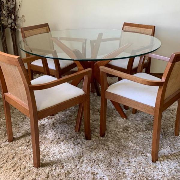 Mesa gávea redonda cadeira gardel tok stok