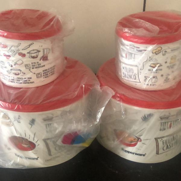 Novo kit tupper caixa livro de receitas tupperware