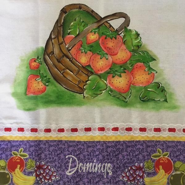 Panos de prato pintados à mão