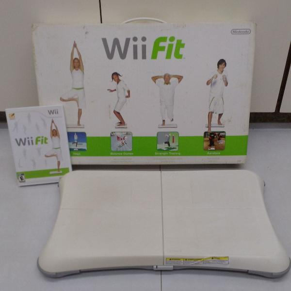 Wii fit balance board + jogo wii fit