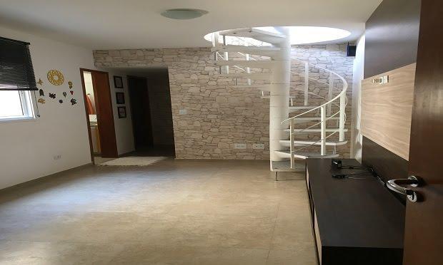 Apartamento mobiliado de cobertura na vila humaitá- santo