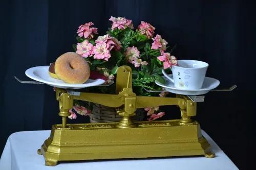 Balança Antiga Força 20kg S/ Pratos Decorativa Restaurada
