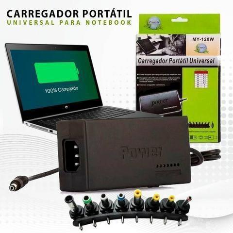 Carregador universal para notebook - compatível com vários