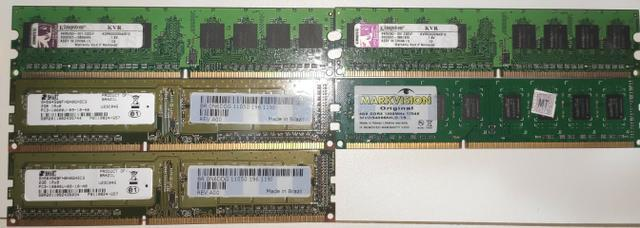 Memórias ddr2 e ddr3 para pc e laptop