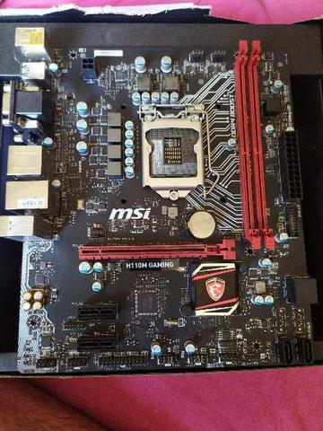 Placa mãe MSI H110M Gaming, DDR4, Intel LGA 1151