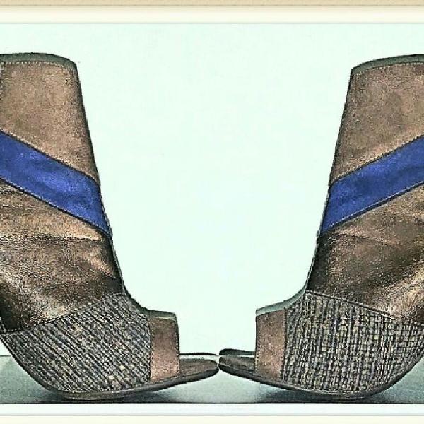 Sapato/bota couro legítimo bebecê