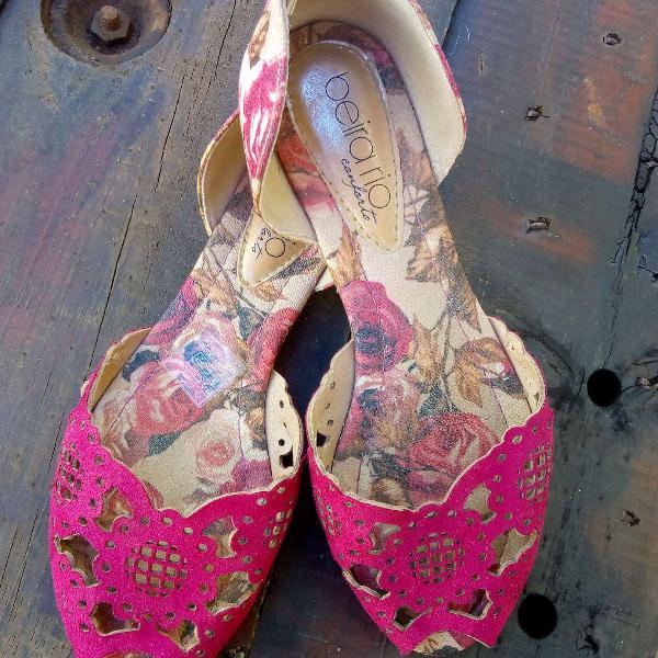 Sapatilha pink floral