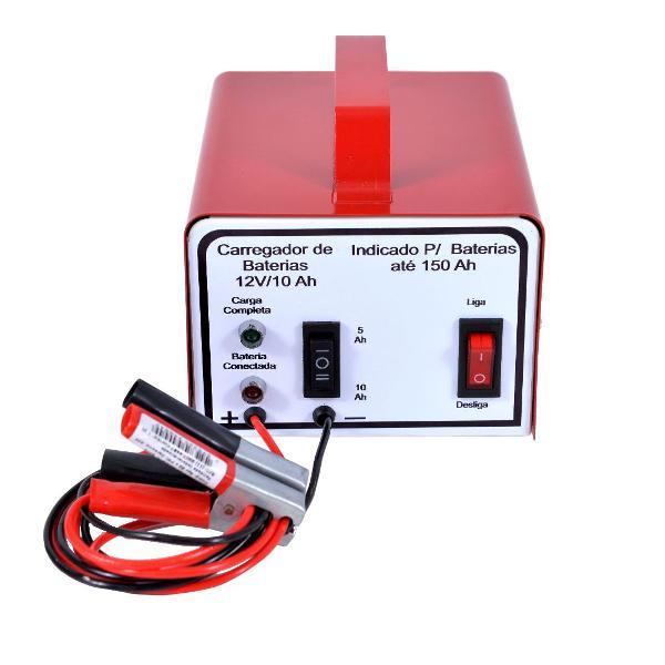 Carregador baterias automotivo lento rapido 12v 10 ah 220v