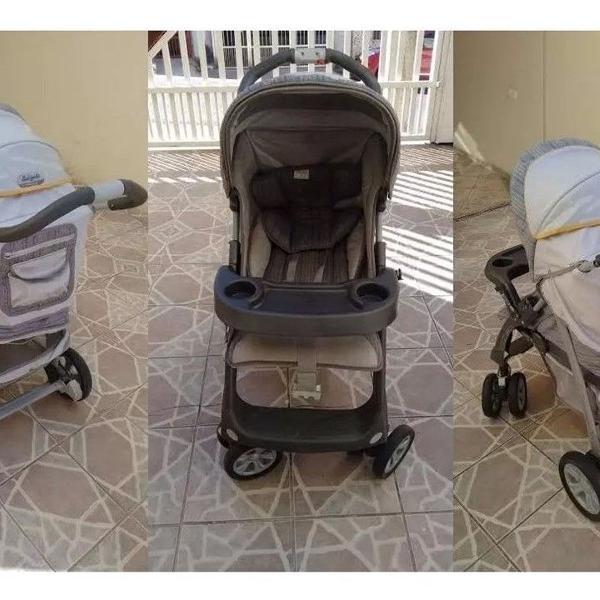 Carrinho de bebê burigotto + bebê conforto semi-novo