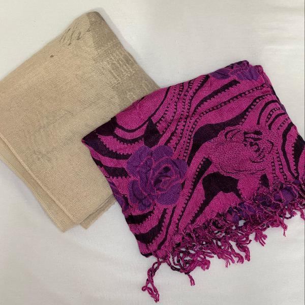 Kit lenço bicolor