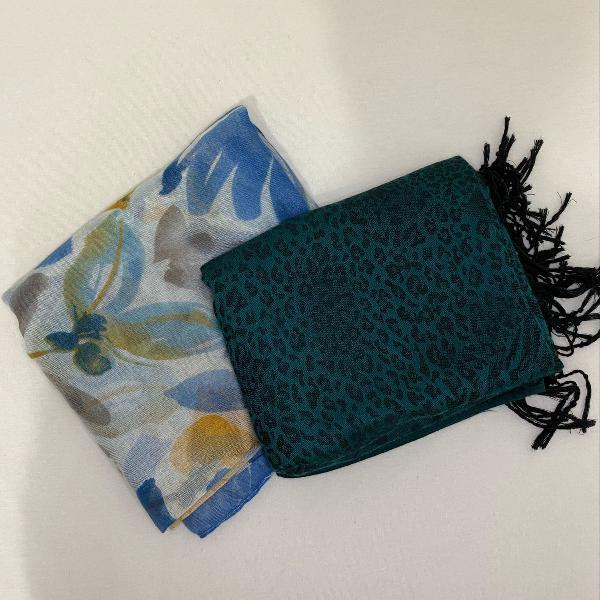 Kit lenço colorido