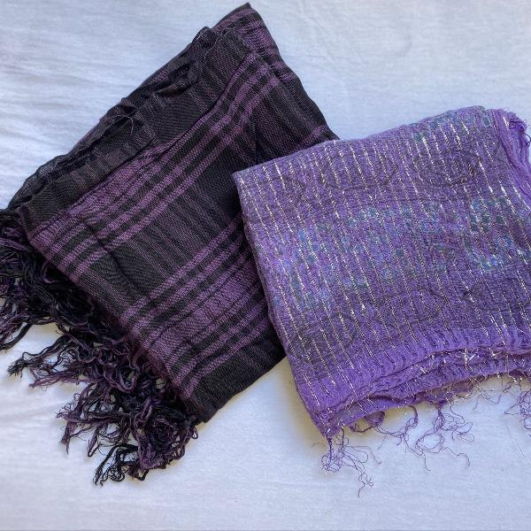 Kit lenço roxo