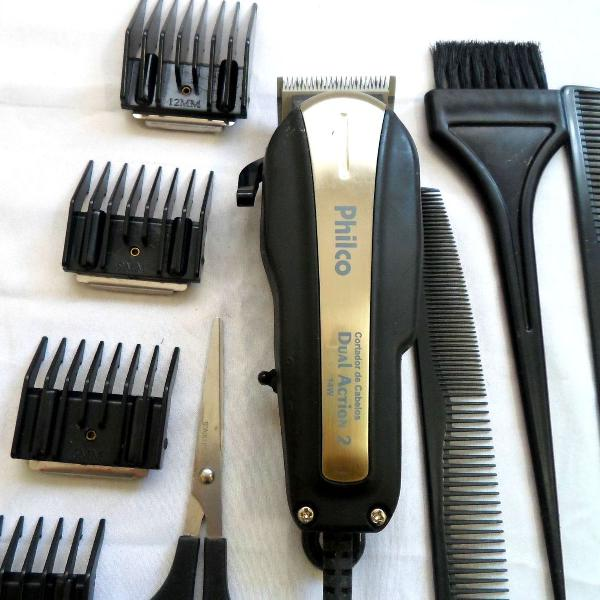 Máquina de cortar cabelos philco completa seminova
