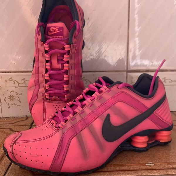 Nike shox júnior pink